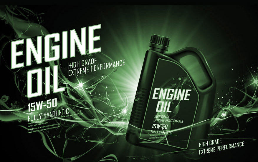 Full Synthetic Engine Oil Green